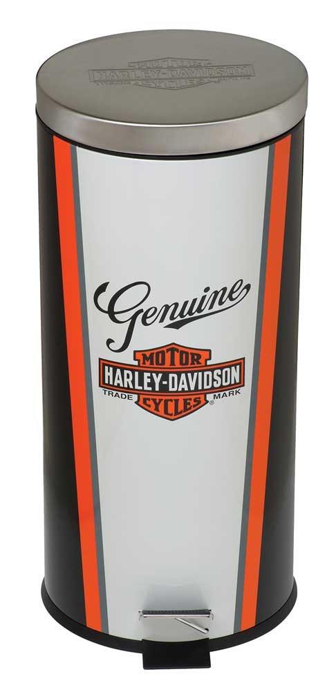 Harley-Davidson Nostalgic Bar & Shield Garbage Can, 11.5 x 25.25 inch HDL-19202