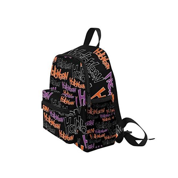 Halloween Black Letter Kid Zaino Scuola Borsa Bookbag Bambini Viaggio Daypack Ragazza Ragazzo 3-8 Anni Bambino… 3 spesavip