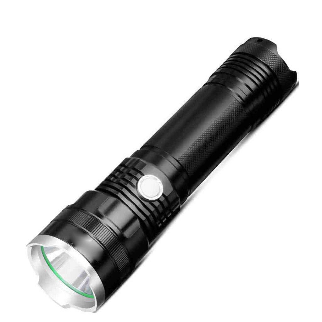 Taschenlampe Super wiederaufladbare Bright USB wiederaufladbare Super taktische Taschenlampe einstellbare Brennweite wasserdicht Camping Wandern und andere Lithium-Ionen-Akku 314a07