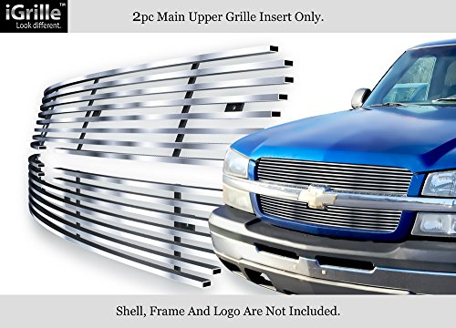 Stainless Steel 304 Billet Grille Grill Custome Fits 2003-05 Chevy Silverado 1500/ 03-04 2500