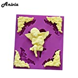 Star-Trade-Inc - 3D Picture Frame Angel Silicone Mould, Sugarcraft, Fondant, Chocolate, Cake Topper, random colors