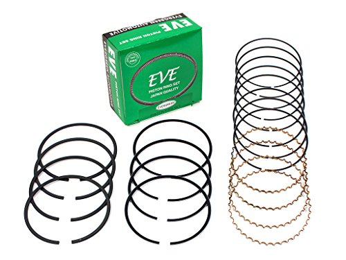 Evergreen RS4016-EVE.STD Fits 92-01 Honda Prelude 2.2L 2.3L DOHC H22A1 H22A4 H23A1 Engine Piston Ring Set (Standard Size)