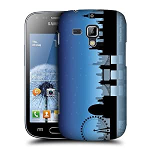 AIYAYA Samsung Case Designs London Skyline Protective Snap-on Hard Back Case Cover for Samsung Galaxy S Duos S7562 Trend S7560