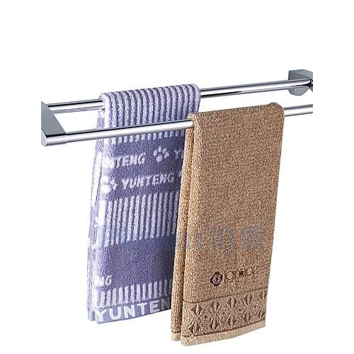 lovely KHSKX Stainless Steel Double Curved Bathroom Towel Rack