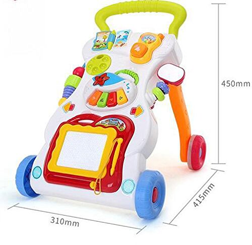 LemonGo Baby Learning Walker Sit-to-Stand Table Mobile Push Pull Toys