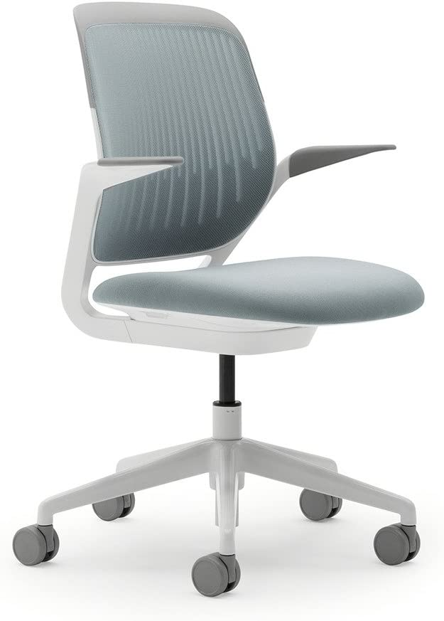 Steelcase Cobi Office Chair: Arms with Soft Arm Caps - Standard Carpet Casters