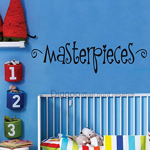 Diggoo Playroom Wall Decal Masterpieces Nursery Vinyl Lettering For Kids Art Display(White,m)