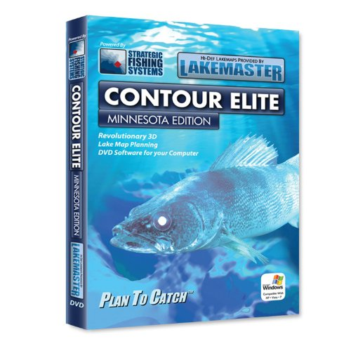Lakemaster LPMNCES1 Contour Elite Mapping Software Minnesota