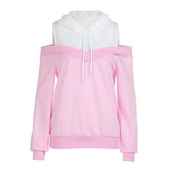 Mujer Blusa sudaderas tops otoño casual urbano streetwear,Sonnena Sudadera con capucha mujer Abrigo superior de manga larga con cordones Deportes Pullover ...