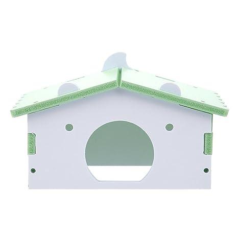 Powlance - Hámster pequeño para Mascotas, Conejo, Erizo, caseta para Dormir