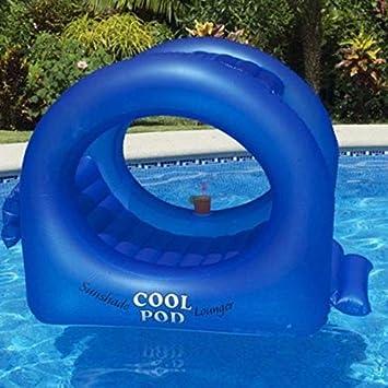 Amazon.com: WYFDM flotador hinchable con parasol inflable ...