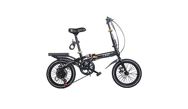 AOHMG Bicicleta Plegable Peso Ligero Bici Plegable, 6- velocidades ...