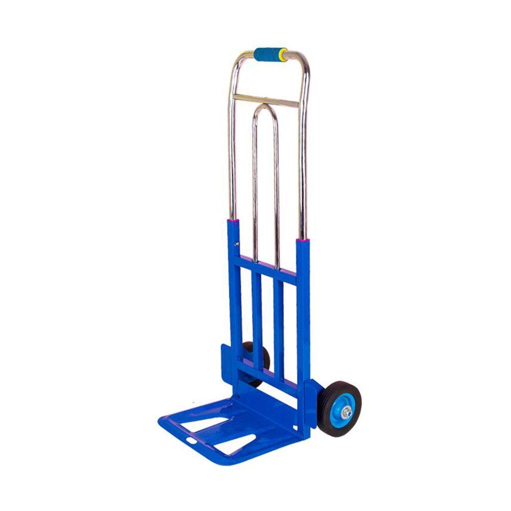 NAN 折りたたみポータブルプーリートラックロードトラックスチールカート容量100kgと15cmの車輪 トレーラー (色 : Blue 100cm) B07FGVPCWH  Blue 100cm