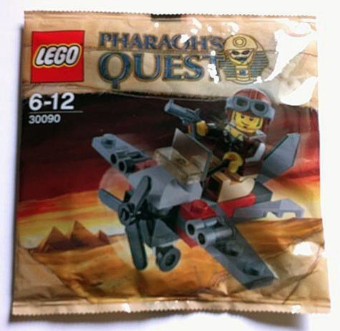 [LEGO Pharaohs Quest Set #30090 Desert Glider Bagged] (Pharaoh Headdress)