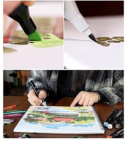 Mengma Negro Doble marcadores ancho y punta fina punta del rotulador gr/áfico 80 colores para el anime 80 colores para el dise/ño con caja de pl/ástico transparente