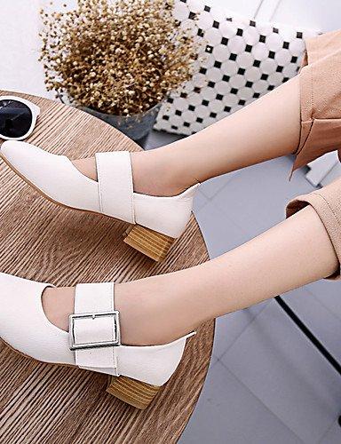 GGX/ Damen-High Heels-Büro / Lässig / Sportlich-Kunstleder-Blockabsatz-Komfort / Stifelette / Passende Schuhe & Taschen / Rollschuh Schuhe- white-us6.5-7 / eu37 / uk4.5-5 / cn37 vot3rPQ2hm