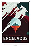 "ENCELADUS: More than 100 Breathtaking Geysers - NASA JPL Space Tourism Travel Poster 24"" x 36"" (Unframed)"
