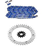 #8: Blue Standard Chain and Sprocket Kit for Yamaha YFM350 X Warrior 1989-2004