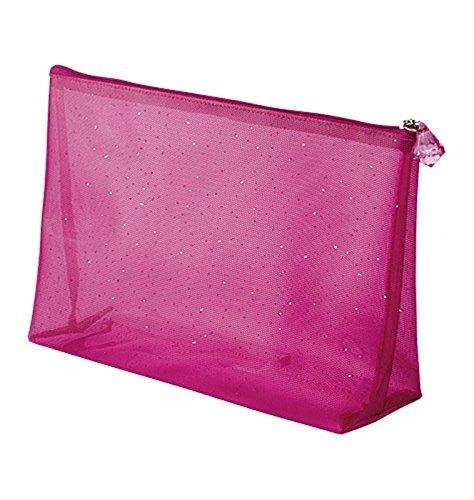 - Avon Diamond Blush Bag Pink Cosmetic Case Washable Shimmer