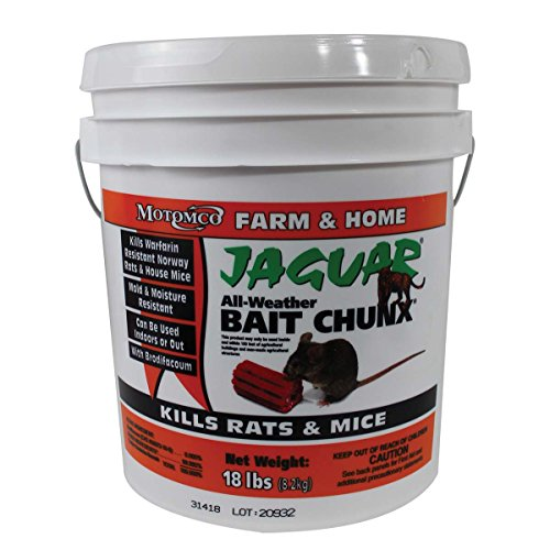 MOTOMCO Jaguar Mouse and Rat Bait Chunx/Pail, 18-Pound by Motomco