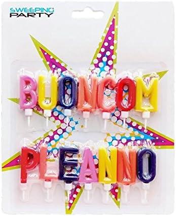 Set 20 Candeline colorati lunghe per compleanni feste party torte bambini