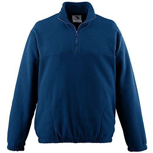 1/2 Zip Navy Fleece - Augusta Sportswear Boys' CHILL Fleece Half-Zip Pullover S Navy