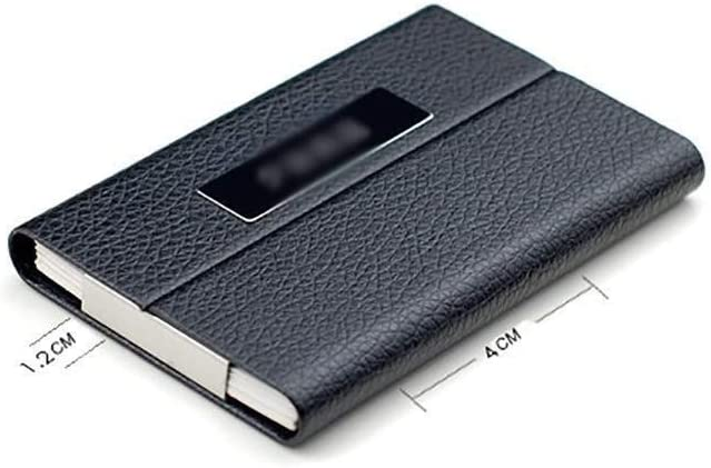 Archivador Titular de la Tarjeta de Visita Tarjeta de la Caja de Gran Capacidad Clip Tarjeta de Crédito LadiesBusiness Paquete, Abra la Tapa en Ambos Lados Negro librero: Amazon.es: Hogar