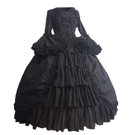 Vestidos Elegante Mujer SUNNSEAN Vestido de Corte Medieval ...