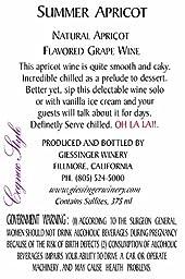 Giessinger Summer Apricot Dessert Wine, Cognac Style 375 mL