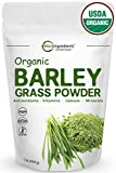 Sustainably US Grown, Organic Barley Grass Powder, 1 Pound, Rich Fiber, Vitamins, Minerals, Antioxidants, Chlorophyll, Essential Amino Acids and Protein. Non-Irradiated, Non-GMO and Vegan Friendly.