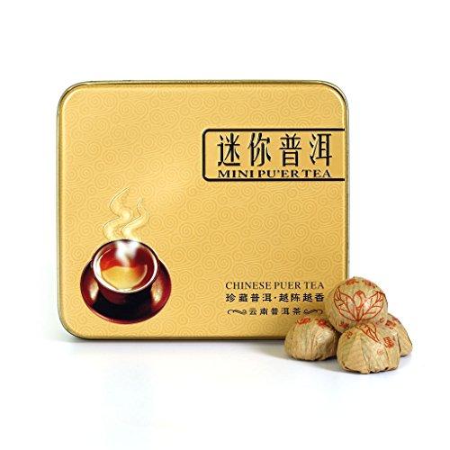 Mini Cake Sampler - 2005 Year Supreme 12pcs (Total:80g) Yunnan Spring Buds Ripe Puer Pu'er Puerh Mini Cake Tea Gift Pack