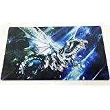 Yo-gi-oh Custom Blue Eyes White Dragon Playmat Large Mouse Pad & Table Mat Blue Eyes Dragon Playmat | Size 23-7/8-Inch x 13-1/2-Inch (AArt TM)
