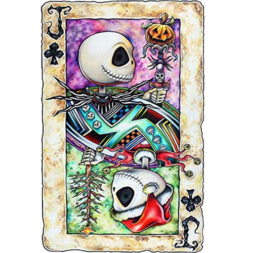 5D Full Drill Diamond Painting Kit,UNIME DIY Diamond Rhinestone Painting Kits for Adults and Children Embroidery Arts Craft Home Decor 12 x 16 inch (Poker Jack Skull)]()