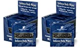 Defense Soap Body Wipes, 12 Individually Packed Wipes (Pack of 2) - 100% Natural and Pure Pharmaceutical Grade Tea Tree and Eucalyptus Oil Helps Wash Away Ringworm, Jock Itch