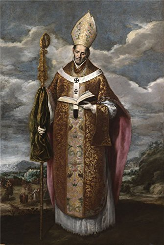 [The Polyster Canvas Of Oil Painting 'El Greco (Copy) San Basilio Segundo Tercio Del 17 Century ' ,size: 10 X 15 Inch / 25 X 38 Cm ,this Cheap But High Quality Art Decorative Art Decorative Prints On Canvas Is Fit For Powder Room Decor And Home Artwork And] (Cats The Musical Victoria Costume)