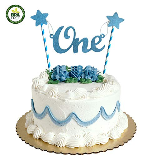 1st First Birthday Cake Topper Decoration,1st birthday decorations for boy.