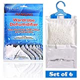 Nyxi Set of 6 Hanging Interior Wardrobe Dehumidifier - 230g Each Bag - Ideal to stop damp, mould...
