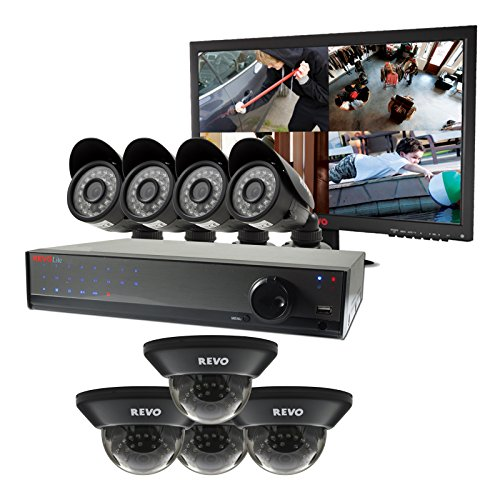 Revo-R16HD2GB6G-2T-REVO-Lite-16-Ch-2TB-DVR-Surveillance-System-with-8-900TVL-Cameras-Black