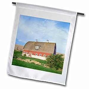 Danita Delimont - Barns - USA, Oregon, Weston, Union Barn (Property Released) - US38 RTI0106 - Rob Tilley - 18 x 27 inch Garden Flag (fl_94122_2)