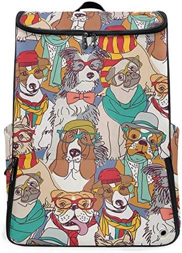 リュック メンズ レディース リュックサック 3way バックパック 大容量 ビジネス 多機能 犬柄 けんねる イヌ スクエアリュック シューズポケット 防水 スポーツ 上下2層式 アウトドア旅行 耐衝撃