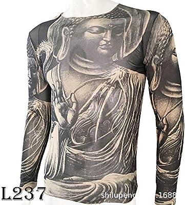 Americana de Gran tamaño de Manga Larga Tatuaje Ropa Tatuaje ...