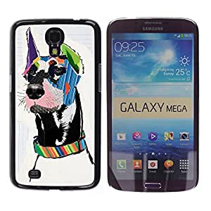 COVERO Samsung Galaxy Mega 6.3 I9200 SGH-i527 / great Dane pop modern art dog canine / Prima Delgada SLIM Casa Carcasa Funda Case Bandera Cover Armor Shell PC / Aliminium