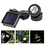 Teepao Solar Flood Light Auto On/Off Dustproof IP65 Pond Light LED Underwater landscape spotlight for Outdoor Garden Courtyard Lawn Fish Tank Pool Landscape Lighting