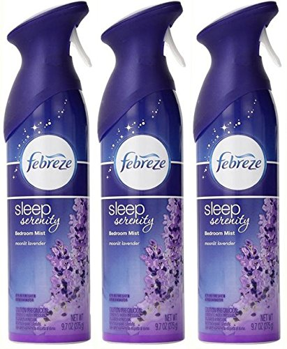 Febreze Sleep Serenity Air Refresher Bedroom Mist Moonlit Lavender Pack Of 3