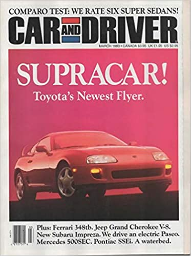 CAR AND DRIVER MAGAZINE MARCH 1993 Paperback – 1993