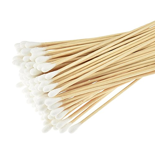 300PCS Wood Cotton Swabs With a Case-Double Tipped Cotton Buds Crabstick For Makeup Clean Care Elandy
