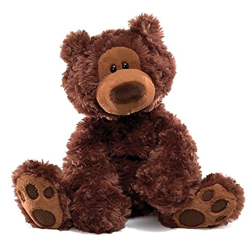 GUND Philbin Teddy Bear Stuffed Animal Plush, Chocolate Brown, (Bear Teddy Bear)