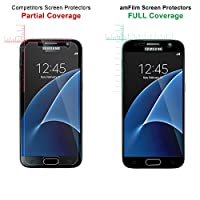 Galaxy S7 Screen Protector Glass (3D Curved Full Screen Coverage), amFilm Bye-Bye-Bubble Samsung Galaxy S7 Tempered Glass Screen Protector [NOT S7 Edge] Screen Protector 2016 from TechMatte