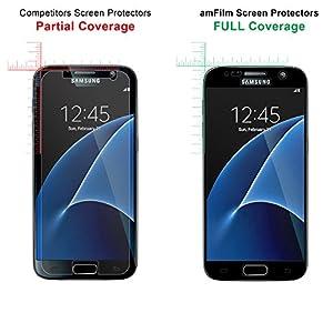 amFilm Galaxy S7 Glass Screen Protector by TechMatte