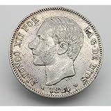 Desconocido Moneda de 5 Pesetas de Plata del Año 1878 Durante La ...